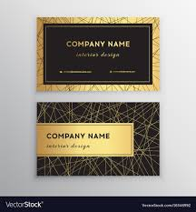 Visiting Card Design Black And Gold Luxury Business Card Gold And Black Horizontal