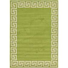 greek key modern light green