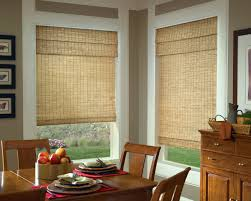 ... Light Brown Rectangle Rustic Rattan Window Shades Stained Ideas: Cool  rattan window shades ...