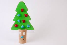 Toilet Paper Roll Christmas Tree:
