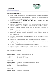 AspNet Resume Sample