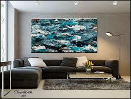 large wall paintingsExtra Large Wall Art Aquamarine Adventure  Oversized abstract art