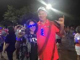 "UTSA on Twitter: ""Happy 10th anniversary to @PresidentEighmy and Peggy  Eighmy! What better anniversary party than the Midnight Light! #UTSA  #UTSARRDays #UTSA22 🧡💙… https://t.co/uAB8Z80dvg"""