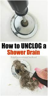 how to unclog a shower drain in 5 minutes