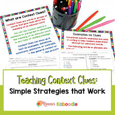 Types Of Context Clues Chart Teaching Context Clues Simple Strategies That Work