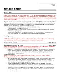 Sample Brand Marketing Resume. Address ...