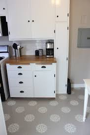 Linoleum Flooring For Kitchen A Warm Conversation Work With What You Got Painted Kitchen Floors