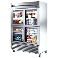 glass front refrigerator residential medium size of 3 door commercial refrigerator used glass door refrigerator freezer
