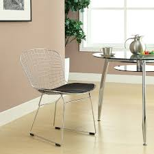 bertoia wire chair. Amazon.com: Modway Bertoia Style Side Chair With Black Cushion: Kitchen \u0026 Dining Wire C