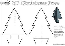 3D Christmas Tree Template Free Download