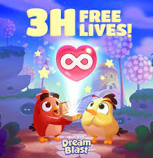 Unlimited lives for 3 hours? Yes... - Angry Birds Dream Blast