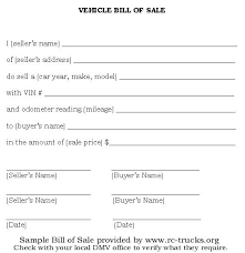 Bill Of Sale Template Vehicle Doc Forms For Trailers Free – Stiropor ...