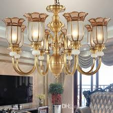 led chandelier american style full copper chandeliers chandelier lamp living room bedroom dining study room staircase carved pendant lamp bubble chandelier