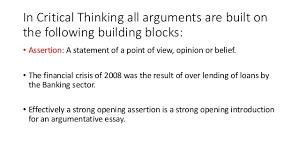 building strong argument 6