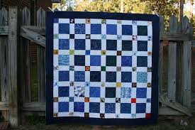charm square quilt | abyquilts & Tricia suggested quilting with white thread in the white sashing pieces and  quilting with navy thread in the blue areas. That would mean a lot of stops  and ... Adamdwight.com