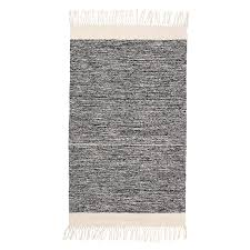 melange bathroom rug black white