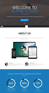 Template Websites Inspiration 48 Best One Page Website Templates Free Premium FreshDesignweb