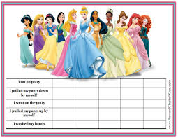 printable potty charts disney princesses
