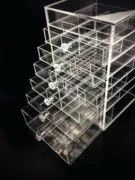 portentous large acrylic makeup organizer with drawers images deluxe diamond handle clear 7 drawer style storage
