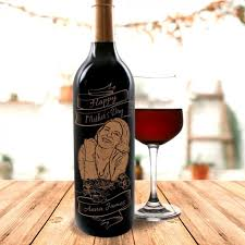 personalised red wine with portrait engraving personalised gifts marketplace