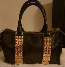 tory burch leather handbag with studs