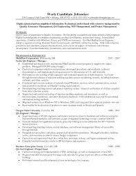 Qa Resume Resume Templates