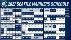 The 2021 Mariners schedule is here ...