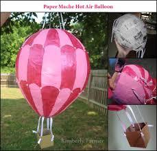 Paper Mache Decorating Mommyhood Craft Corner Paper Mache Hot Air Balloon Piata Or
