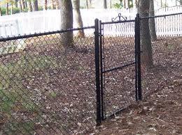 black chain link fence gate. Wonderful Fence 5 Foot Tall Black Vinyl Chain Link Fence With Gate At Www And Black Chain Link Fence Gate D