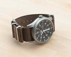 picture of leather nato watch strap