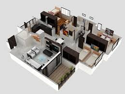 3 bhk apartment 3d interior design by zero designs