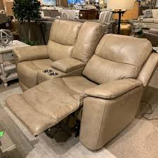 1183 64ph flexsteel leather dual power reclining loveseat