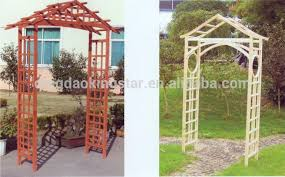 Small Picture Outdoor Solid Wood Wooden Garden Arch Designs Buy Wooden Garden