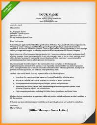 3 4 Cover Letter Examples Office Manager Wear2014 Com