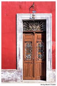 classic old wooden door colorful mexican architecture print by mark tisdale