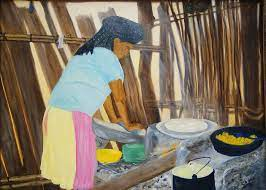 Zapotec Kitchen Painting by Sylvia Riggs