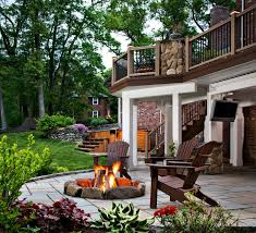 deck patio with fire pit. Perfect Pit Firepit By Archadeck Surrounded Patio And Space For Outdoor Living Intended Deck Patio With Fire Pit