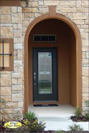 single front doors with glass. Single Door Insert With Square Pattern In Front Entry Arched Opening. Doors Glass