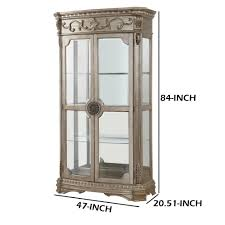 Amish deluxe glass curio cabinet a grand curio cabinet with lots of display space, solid wood beauty and plenty of options. Wood And Glass Curio Cabinet With Touch Lighting Gold And Clear Overstock 28121649