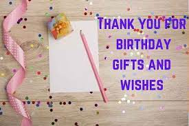 for birthday gifts and wishes exles