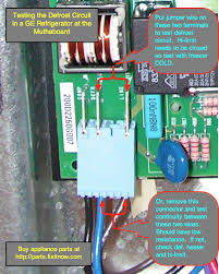 refrigerator repair fixitnow com samurai appliance repair man Wiring Diagram For Ge Profile Refrigerator the samurai test for the defrost circuit in a ge refrigerator with a muthaboard GE Refrigerator Schematic Diagram