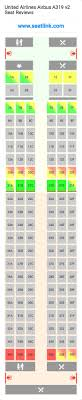 A319 Seating Chart United Airlines Airbus A319 V2 Seating Chart Updated