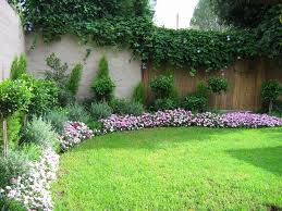 ... Landscape, Pretty Small Garden Design With Colorful Flower And Green  Shrub Natural Plant Wall And ...