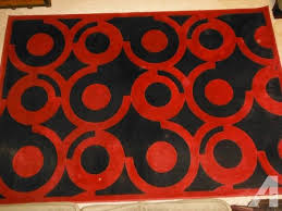 andy warhol sphinx red black sold out area rug 63 x