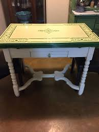 Enamel Top Kitchen Table Vintage