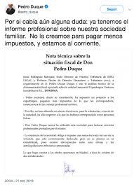 Informe Profesional Un Informe Fake De Pedro Duque Asegura Que Su Sociedad Patrimonial