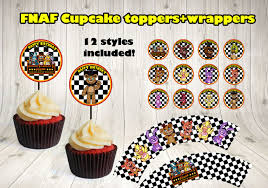 Five Nights At Freddys Cupcake Toppers By Decorationsleon On
