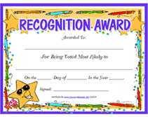 Most Likely To Award Template Star Free Printable Most Likely To Award Certificate