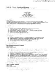 Hr Payroll Resume Sample