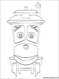 Locomotief Of Trein Chuggington Gratis Kleurplaten